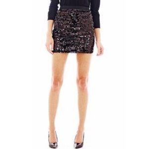 Joe Fresh Black Sequin Mini Skirt   Size XL